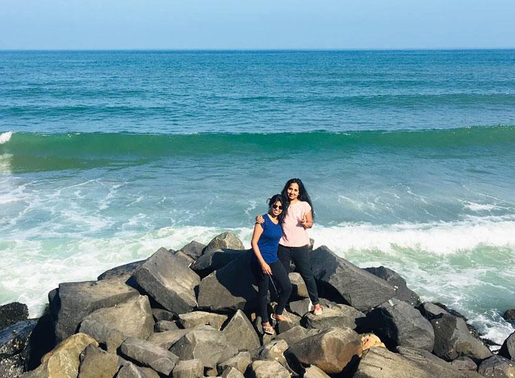 Рок пляж Пондишери