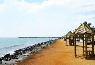 Пондичерри пляж